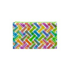 Abstract Pattern Colorful Wallpaper Background Cosmetic Bag (XS)