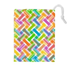 Abstract Pattern Colorful Wallpaper Background Drawstring Pouches (Extra Large)