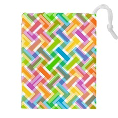Abstract Pattern Colorful Wallpaper Background Drawstring Pouches (XXL)