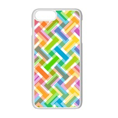 Abstract Pattern Colorful Wallpaper Background Apple iPhone 7 Plus White Seamless Case