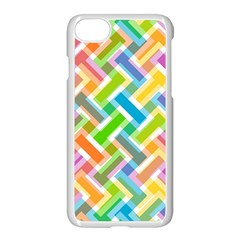 Abstract Pattern Colorful Wallpaper Background Apple iPhone 7 Seamless Case (White)