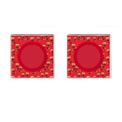 Floral Roses Pattern Background Seamless Cufflinks (square) by Simbadda