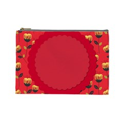 Floral Roses Pattern Background Seamless Cosmetic Bag (large)  by Simbadda