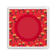 Floral Roses Pattern Background Seamless Memory Card Reader (square)  by Simbadda