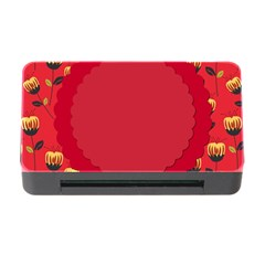 Floral Roses Pattern Background Seamless Memory Card Reader With Cf by Simbadda