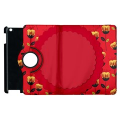 Floral Roses Pattern Background Seamless Apple Ipad 3/4 Flip 360 Case by Simbadda