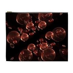 Fractal Chocolate Balls On Black Background Cosmetic Bag (xl) by Simbadda