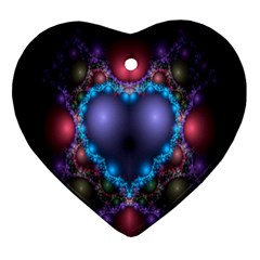 Blue Heart Fractal Image With Help From A Script Ornament (heart) by Simbadda