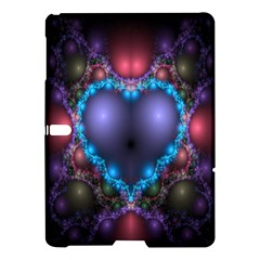 Blue Heart Fractal Image With Help From A Script Samsung Galaxy Tab S (10 5 ) Hardshell Case  by Simbadda