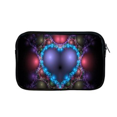 Blue Heart Fractal Image With Help From A Script Apple Macbook Pro 13  Zipper Case by Simbadda