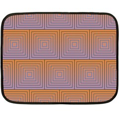Brick Wall Squared Concentric Squares Fleece Blanket (mini) by Simbadda