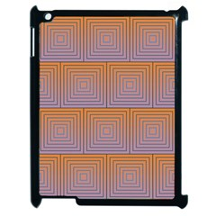 Brick Wall Squared Concentric Squares Apple Ipad 2 Case (black) by Simbadda