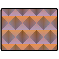 Brick Wall Squared Concentric Squares Double Sided Fleece Blanket (large)  by Simbadda