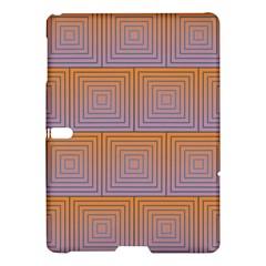 Brick Wall Squared Concentric Squares Samsung Galaxy Tab S (10 5 ) Hardshell Case  by Simbadda