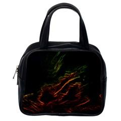Abstract Glowing Edges Classic Handbags (one Side) by Simbadda
