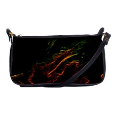 Abstract Glowing Edges Shoulder Clutch Bags by Simbadda