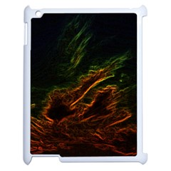 Abstract Glowing Edges Apple Ipad 2 Case (white) by Simbadda