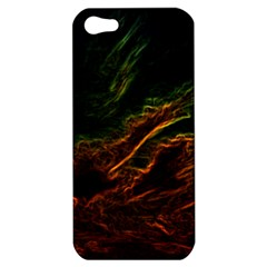 Abstract Glowing Edges Apple Iphone 5 Hardshell Case by Simbadda