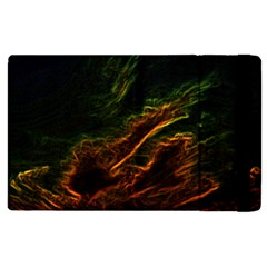 Abstract Glowing Edges Apple Ipad 3/4 Flip Case by Simbadda