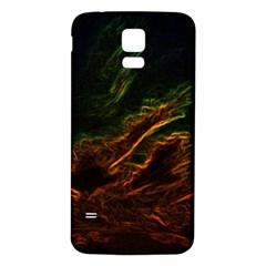 Abstract Glowing Edges Samsung Galaxy S5 Back Case (white) by Simbadda