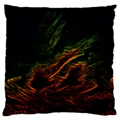 Abstract Glowing Edges Standard Flano Cushion Case (two Sides) by Simbadda