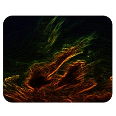 Abstract Glowing Edges Double Sided Flano Blanket (medium)  by Simbadda