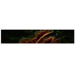 Abstract Glowing Edges Flano Scarf (large) by Simbadda