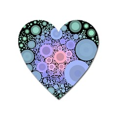 An Abstract Background Consisting Of Pastel Colored Circle Heart Magnet by Simbadda