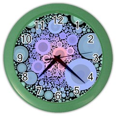 An Abstract Background Consisting Of Pastel Colored Circle Color Wall Clocks by Simbadda