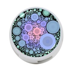 An Abstract Background Consisting Of Pastel Colored Circle 4 Port Usb Hub (one Side) by Simbadda