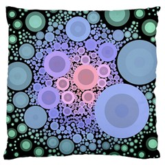 An Abstract Background Consisting Of Pastel Colored Circle Large Cushion Case (two Sides) by Simbadda