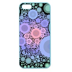An Abstract Background Consisting Of Pastel Colored Circle Apple Seamless Iphone 5 Case (color) by Simbadda