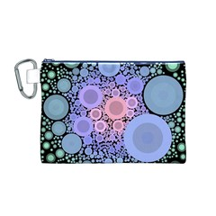 An Abstract Background Consisting Of Pastel Colored Circle Canvas Cosmetic Bag (m) by Simbadda