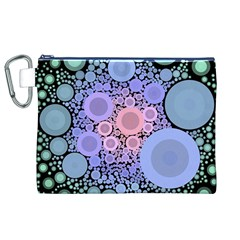 An Abstract Background Consisting Of Pastel Colored Circle Canvas Cosmetic Bag (xl) by Simbadda