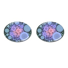An Abstract Background Consisting Of Pastel Colored Circle Cufflinks (oval) by Simbadda