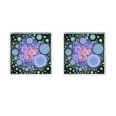 An Abstract Background Consisting Of Pastel Colored Circle Cufflinks (square) by Simbadda