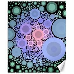 An Abstract Background Consisting Of Pastel Colored Circle Canvas 16  X 20   by Simbadda