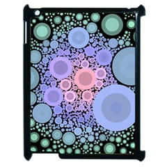 An Abstract Background Consisting Of Pastel Colored Circle Apple Ipad 2 Case (black) by Simbadda