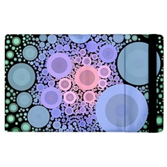 An Abstract Background Consisting Of Pastel Colored Circle Apple Ipad 2 Flip Case by Simbadda