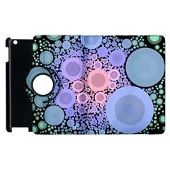 An Abstract Background Consisting Of Pastel Colored Circle Apple Ipad 3/4 Flip 360 Case by Simbadda