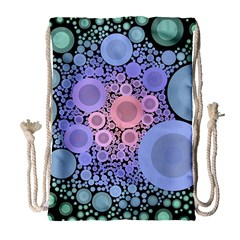 An Abstract Background Consisting Of Pastel Colored Circle Drawstring Bag (large) by Simbadda