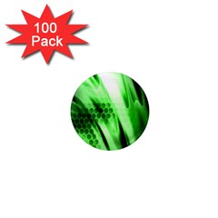 Abstract Background Green 1  Mini Magnets (100 Pack)  by Simbadda