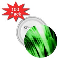 Abstract Background Green 1 75  Buttons (100 Pack)