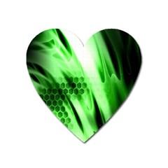 Abstract Background Green Heart Magnet by Simbadda