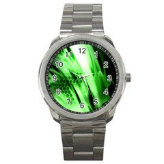 Abstract Background Green Sport Metal Watch by Simbadda