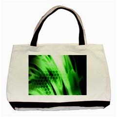 Abstract Background Green Basic Tote Bag by Simbadda