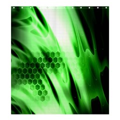 Abstract Background Green Shower Curtain 66  X 72  (large)  by Simbadda