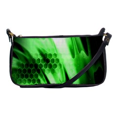 Abstract Background Green Shoulder Clutch Bags by Simbadda