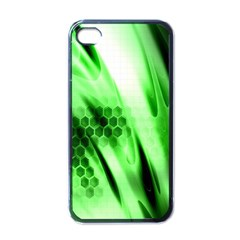 Abstract Background Green Apple Iphone 4 Case (black)
