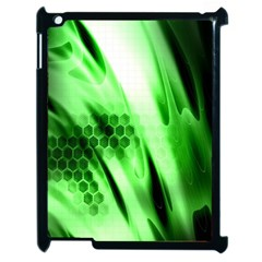 Abstract Background Green Apple Ipad 2 Case (black) by Simbadda